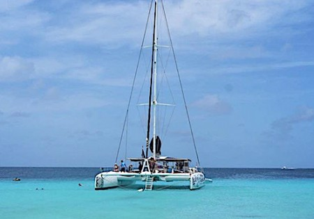 Sailing with a Catamaran